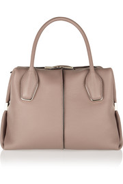 D-Cube Bauletto medium textured-leather tote