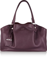 Flower medium textured-leather tote
