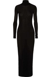 Jersey turtleneck maxi dress