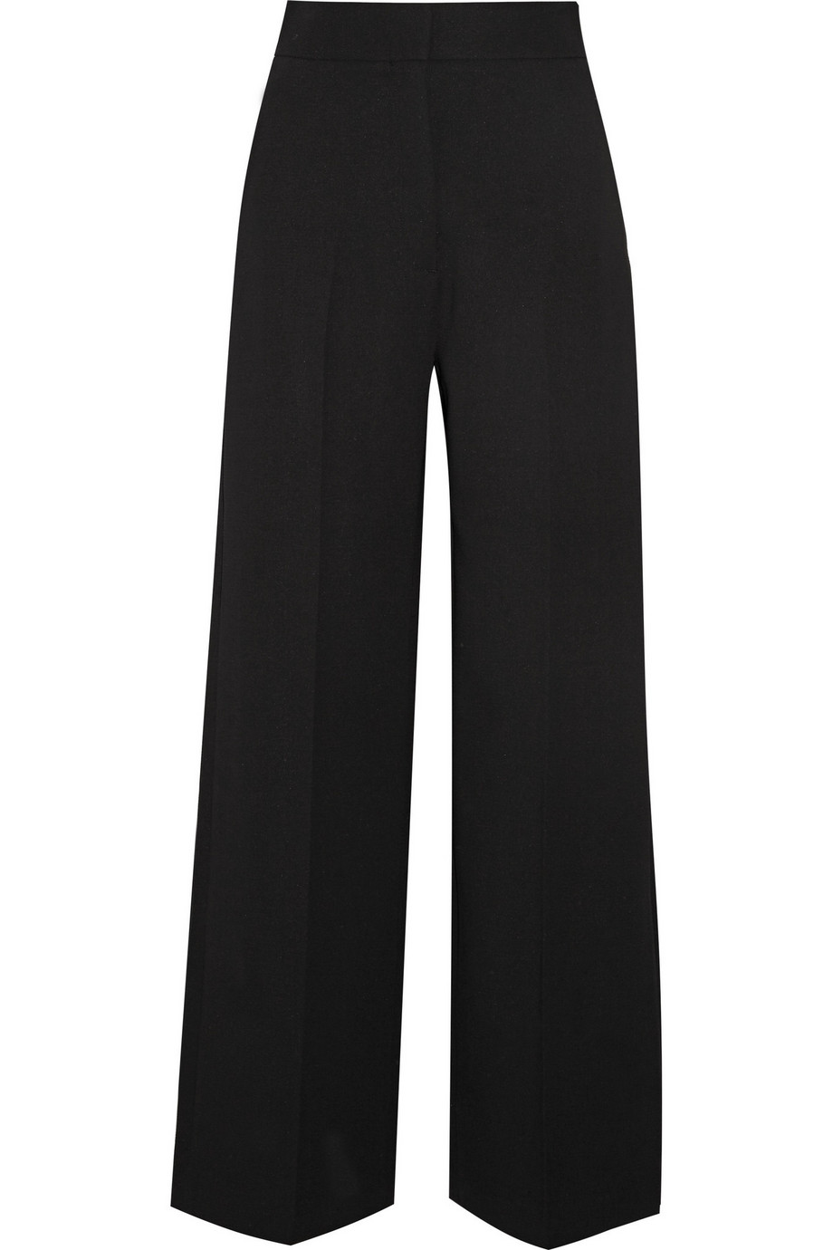 Rosetta Getty Twill Wide-Leg Pants, Black, Women's, Size: 4