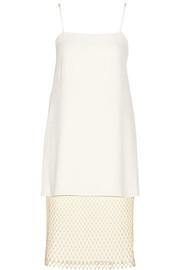 Adam Lippes Layered crepe and lace dress