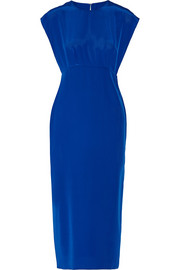 Adam Lippes Cutout silk crepe de chine dress