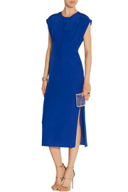 Cutout silk crepe de chine dress