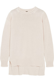 Oversized cotton, cashmere and silk-blend sweater