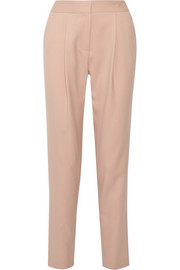 Cropped stretch-wool tapered pants