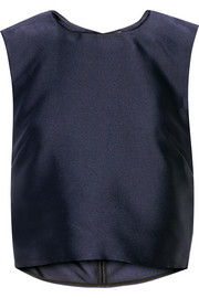 Adam Lippes Cropped satin top