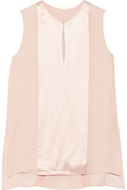 Adam Lippes Silk-satin and crepe top