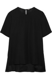 Adam Lippes Pleated crepe top