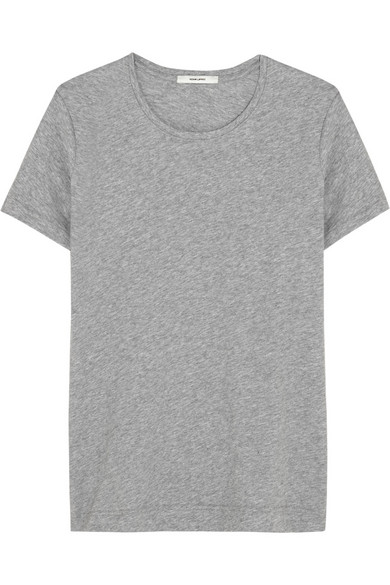 Adam lippes pima cotton t shirt in gray modesens for Adam lippes t shirt