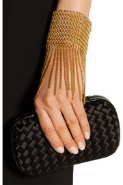 Gold-plated fringed bracelet