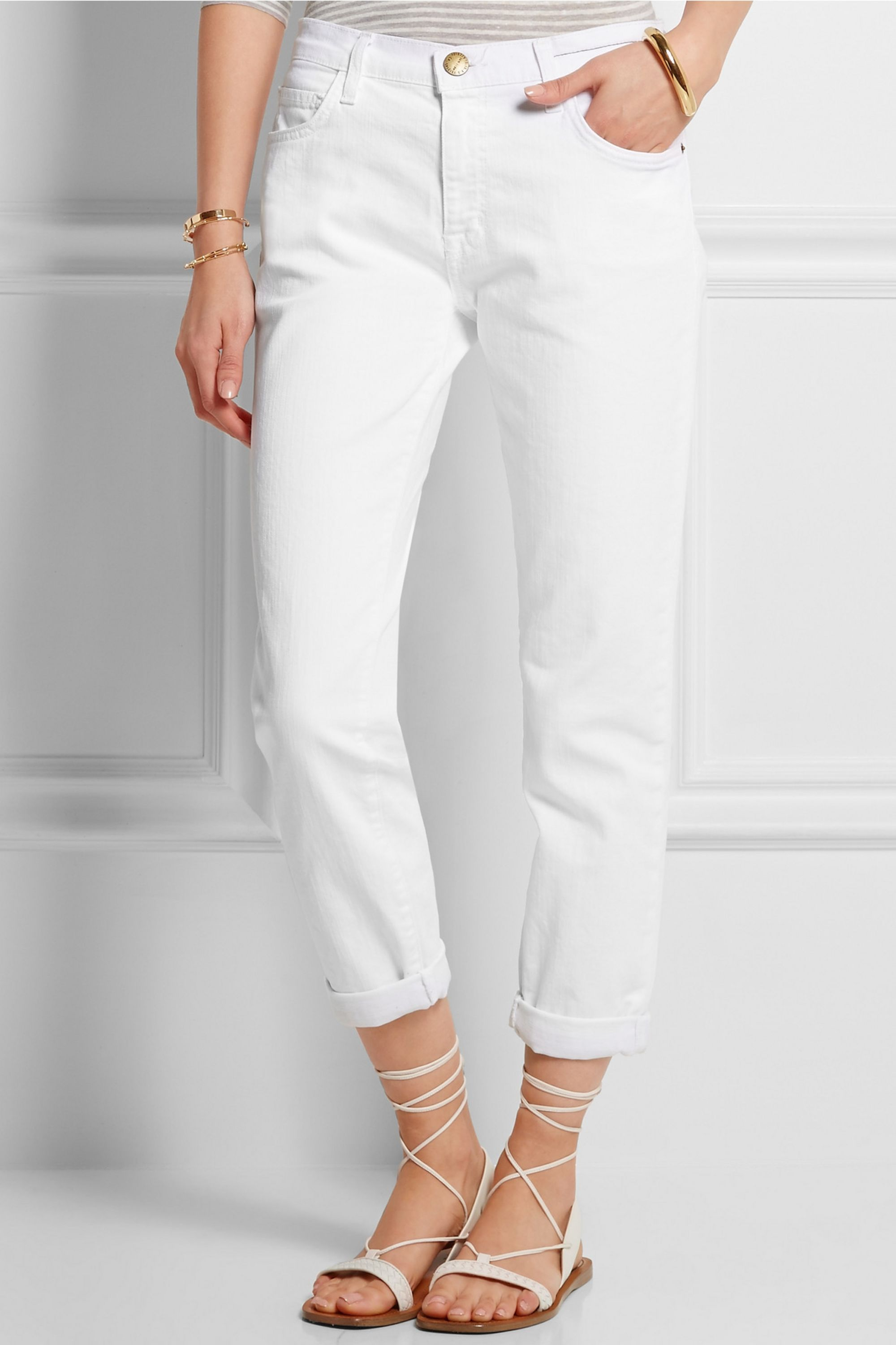 Current/Elliott The Fling mid-rise boyfriend jeans