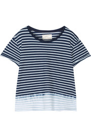 The Freshman dip-dyed striped cotton-jersey T-shirt