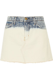 The Cut Off denim mini skirt