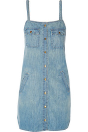 The Strappy Perfect denim mini dress