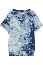 The Rolled Sleeve tie-dyed cotton-terry sweatshirt