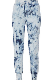 The Slim Vintage tie-dyed cotton-terry track pants