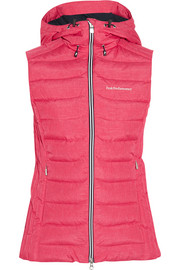 Quilted shell down ski gilet