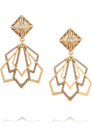 Portico gold-plated crystal earrings