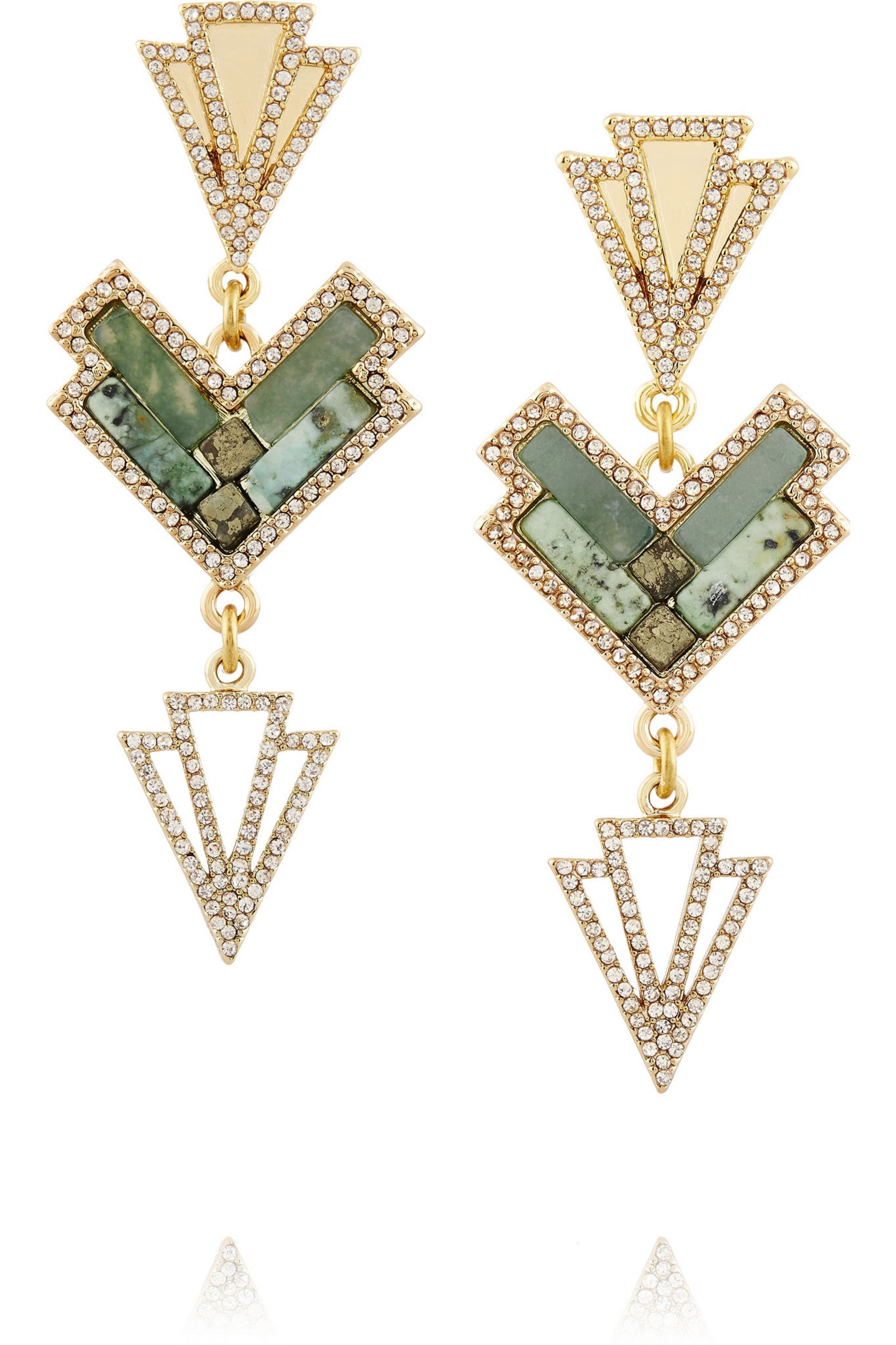 Lulu Frost Ortigia gold-plated multi-stone earrings