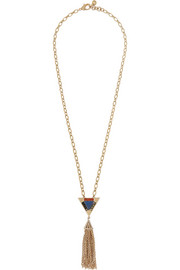 Petra gold-plated multi-stone necklace