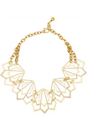 Portico gold-plated crystal necklace
