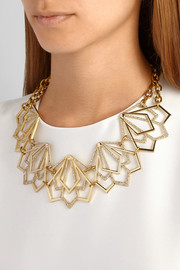 Lulu Frost Portico gold-plated crystal necklace