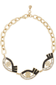 Lulu Frost Lumen gold-plated multi-stone necklace