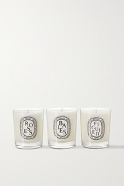 Diptyque Baies, Roses and Figuier set of three candles, 3 x 70g