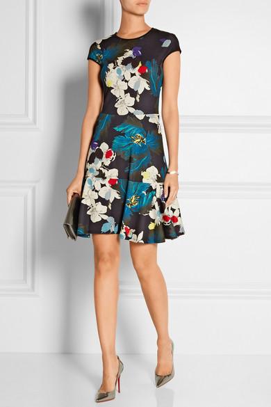 Erdem | Darlina bedrucktes Kleid aus Stretch-Ponte | NET-A-PORTER.COM