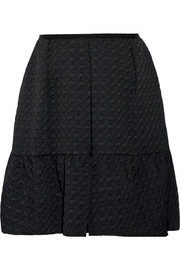 Levia houndstooth matelassé mini skirt