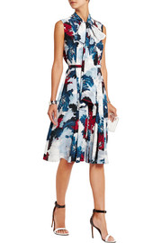 Richelle printed silk-crepe dress