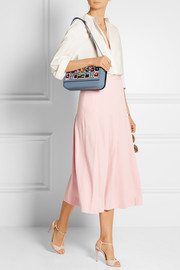 Baguette embellished-leather shoulder bag