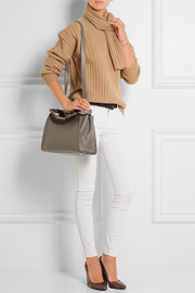 Peekaboo medium textured-leather tote