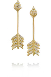 Shooting Arrow gold-plated topaz earrings