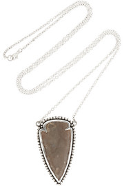 Arrowhead silver jasper necklace