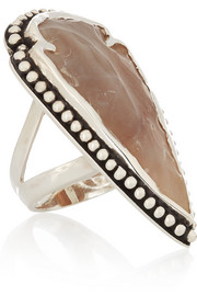 Pamela Love Arrowhead silver jasper ring