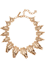 Oscar de la Renta Gold-plated necklace