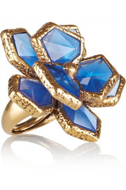 Oscar de la Renta Gold-plated resin ring