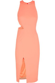 Elizabeth and James Giulia cutout stretch-piqué dress