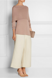 Layered silk and cashmere-blend sweater