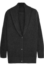 Ribbed-knit cashmere cardigan