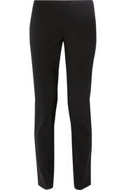 High-rise stretch-wool skinny pants