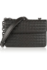 Bottega Veneta Double Flap intrecciato leather shoulder bag