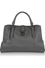 Roma large textured-leather tote