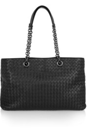 Bottega Veneta Shopper Chain large intrecciato leather tote