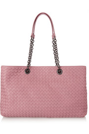 Shopper Chain large intrecciato leather tote