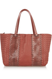 Bottega Veneta Intrecciato leather and ayers tote