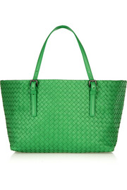Shopper small intrecciato leather tote