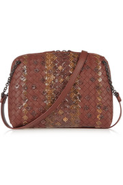 Intrecciato leather and ayers shoulder bag