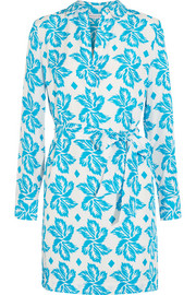 Taffy printed silk crepe de chine dress